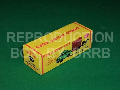 Dinky # 073 Dublo Dinky Land Rover & Horse Trailer - Reproduction Box